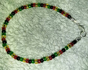 "Basic Rasta bracelet, SZ L (8 1/2"")"