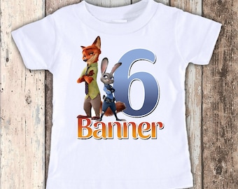 Zootopia custom designed birthday t shirt tshirt personalized