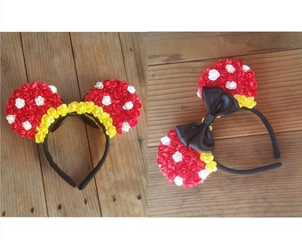 Minnie Inspired Floral Ears