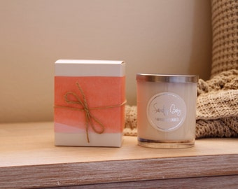 Gift Boxed Large Soy Wax Candle | Double Wick | Handmade To Order