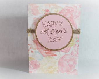 Mother's Day Card, Card for Mom, Thinking of you Card, Birthday Card, Mothers Day Card, Simple Card, Mom Card, Notecard, Mom Birthday Card