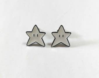 Cute Mario Kart Star Stud Earrings