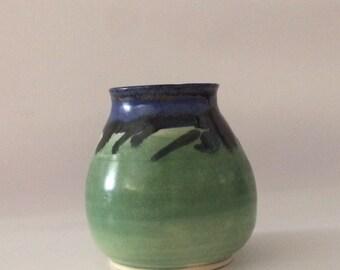 Green & Blue ceramic pot