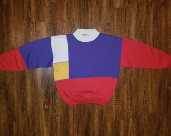 80s Color Block High Collar by Westbound Sport