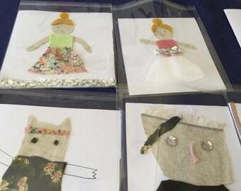 Blank handmade card
