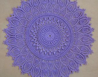 Doily Home Décor natural cotton lilac