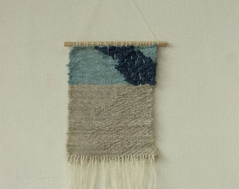 Blue and turquoise weaving