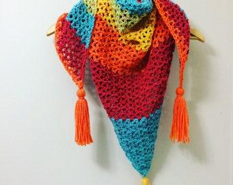 Fun Crochet Tirangle Scarf