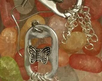 Butterfly pop tap earings