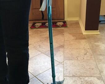 Silver/blue Christmas cane
