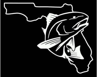 flordia fishing redfish drum spot tail decal sticker