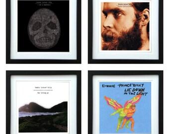 Bonnie Prince Billy - Framed Album Art - Set of 4 Images