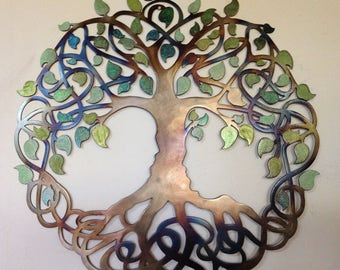 "Tree Of Life, Celtic Design- Green leaves, 23.5"" (60 cm)"