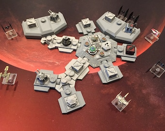 X-Wing Miniatures Heroes of the Aturi Cluster 3D Printed Battlements and Space Station