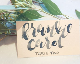 Flat Watercolor Place Card