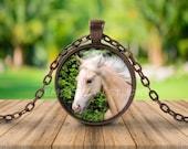 HORSE PENDANT, Horse Necklace, Horse Lover, Gift for Horse Lover, Horse Jewelry, Equestrian Jewelry, Palomino Horse, Horse Art, Horse Head