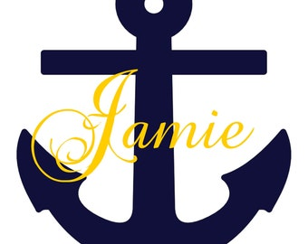 Anchor Name custom Vinyl Decal