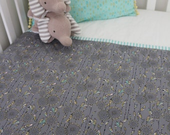 Sweet Dream Catcher Large Play Mat/Cot Quilt in Grey and Multi