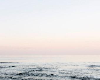 Ocean Photography, Pink blue ocean wave photography, Venice Beach Print,  winter blue, surfer aqua, summer beach, California Print,