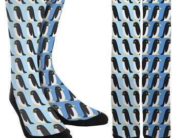 Penguin Crew Socks - Penguins - Unique Socks - Novelty Socks - Cute Socks - 100% Comfort - FREE Shipping