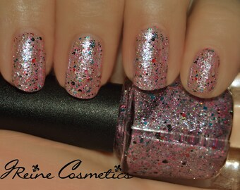 Party Princess - Pink Multicolored Glitter Nail Polish LIMITED EDITION