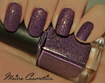 Geaux Tigers - Purple and Gold Glitter Nail Polish
