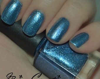 Polar Punch - Blue Metallic Sparkle Nail Polish