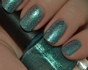 Salt Life - Green Glitter Nail Polish