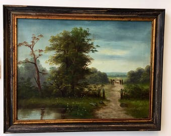 A Pair of Framed Victorian Landscape Paintings