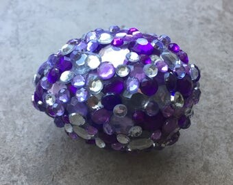 Purple and silver egg