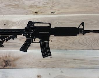 Metal Gun AR15 cut out - FREE SHIPPING