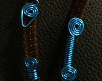 Adorable blue loc jewelry set