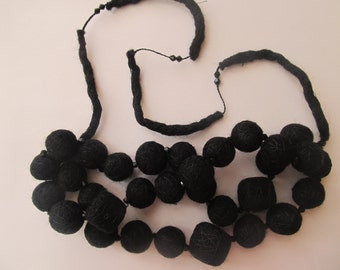 Necklace made of felted wool,gift .Necklace for Beatrice .