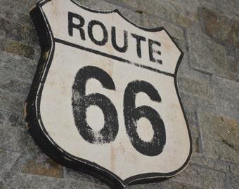Route 66 Vintage Wood Sign Man Cave Sign Garage Sign Bar Sign Rustic Sign Distressed Sign Custom Wood Sign Unique Gift