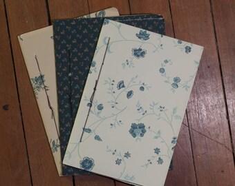 blue floral fieldnote