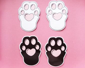 Cat Kitten Paws Decal Stickers Planner Diary Scrapbook Phone Laptop Cute Kawaii Deco