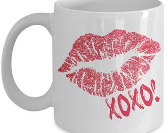 Red Lips Mug - Lips Mug - XOXO Mug - Coffee Mug