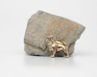 Vakkancs Pug pin (solid bronze)