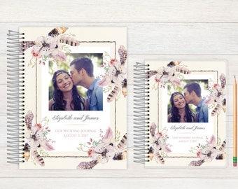 Wedding Journal, Wedding notebook, custom Wedding journal, Personalized Bridal journal, Personalized journal, rustic floral