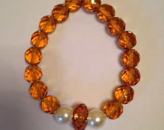 Golden Honey Beaded Bracelet.