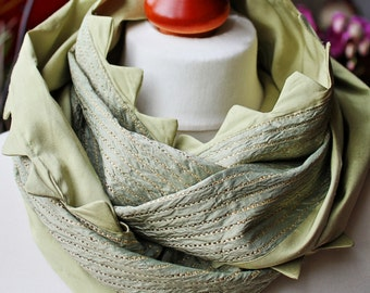 "Infinity, silk, ""Little dragon"", loop, tube scarf"