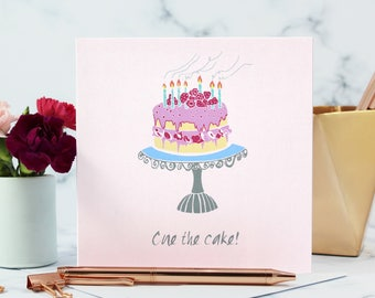 Happy Birthday Card, Cake Card, Birthday Card, Cake Lover Card, Birthday Cake, Card for Her, Birthday Cake Card