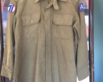 1930's Wool Military Shirt with Chinstrap