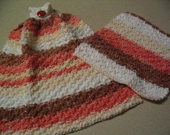 Crochet Dishcloth and Dish Towel Kitchen Set