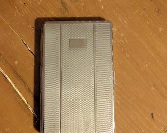 Vintage large metal cigarette case.