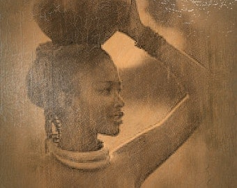 An African Woman in the Village
