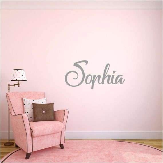 Personalized Name Wall Decal - Custom Nursery Wall Decor - Office Art - Bedroom Decor - Wall Art