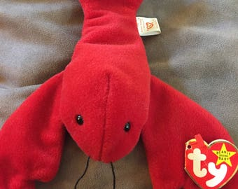 RARE Korean Market Pinchers the Lobster Beanie Baby