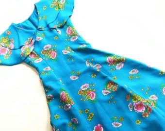 DrEsS hippie 70s VinTage xS s 60s summer CoaCheLLa dress woman 70s reTro 34 36 maxidress Maxi dress