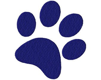 Paw Print Embroidery Design - Tiger print - Paw Print - Dog Print -  Instant Download